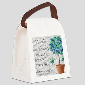 retired teacher blanket Canvas Lunch Bag