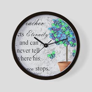 retired teacher blanket Wall Clock