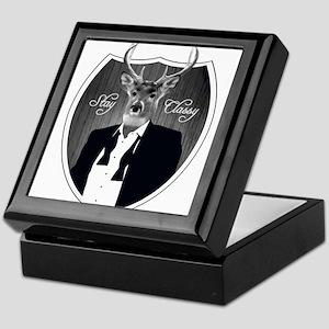 Deer in tuxedo - Stay Classy Keepsake Box