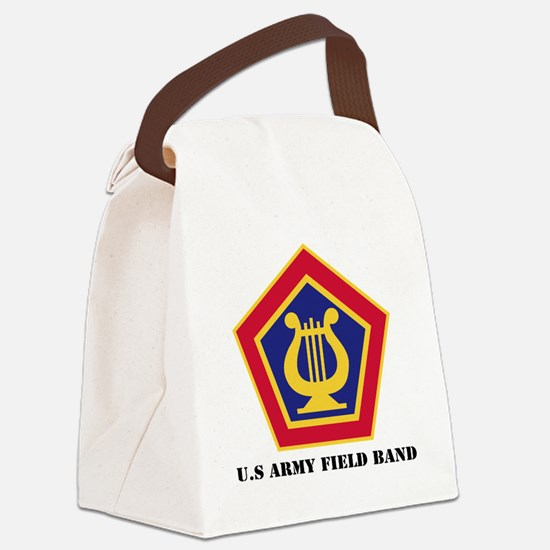 U.S Army Field Band with Text Canvas Lunch Bag