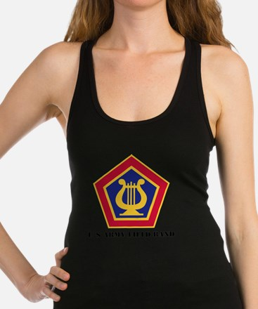 U.S Army Field Band with Text Racerback Tank Top