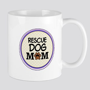 Rescue Dog Mom Mugs
