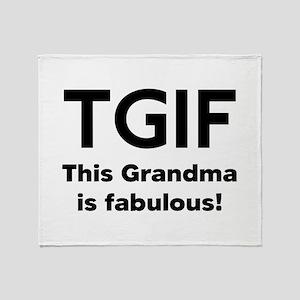 This Grandma Is Fabulous Throw Blanket