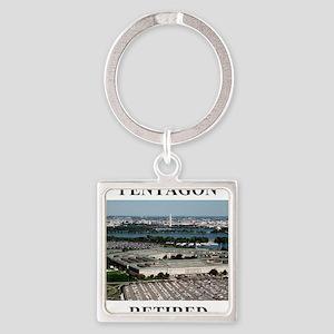 Pentagon - Retired 2 Square Keychain