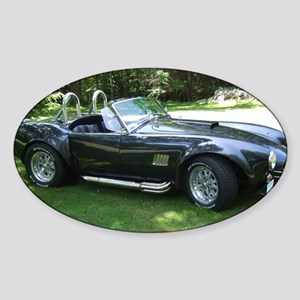 cobra sports car Sticker (Oval)
