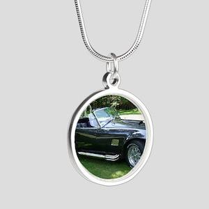 cobra sports car Silver Round Necklace