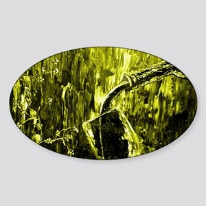 Yellow Wine Abstract Sticker (Oval)