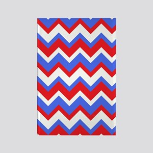 Red White and Blue Chevrons Rectangle Magnet