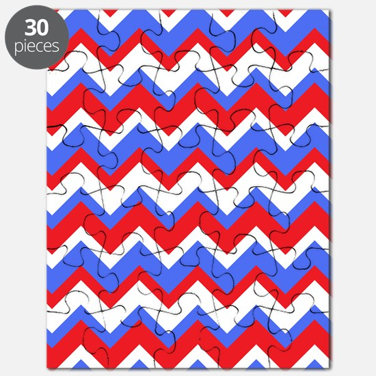Red White and Blue Chevrons Puzzle