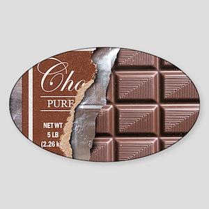Chocolate Bar Sticker (Oval)