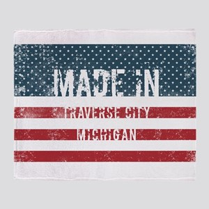 Made in Traverse City, Michigan Throw Blanket