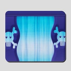 Blue Skull Shower Curtain Mousepad