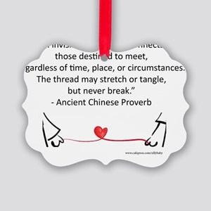 Red Thread Proverb Picture Ornament