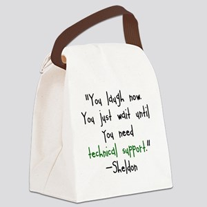Tech Support Canvas Lunch Bag