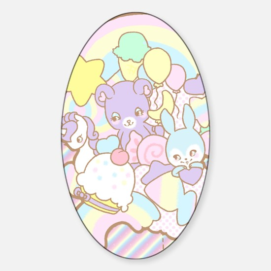 Rainbow Parade Sticker (Oval)