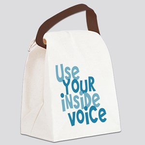 Use Your Inside Voice Canvas Lunch Bag