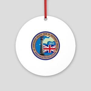SW England Lighthouse Tour Round Ornament