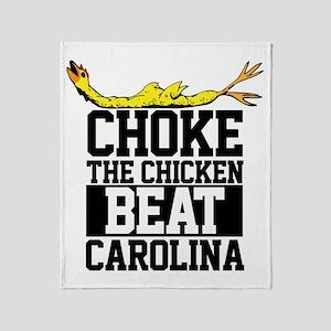 Choke The Chicken Beat South Carolin Throw Blanket