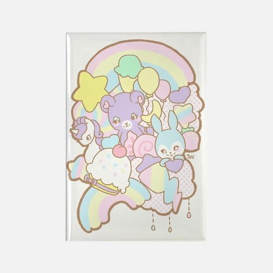 Rainbow Parade Rectangle Magnet