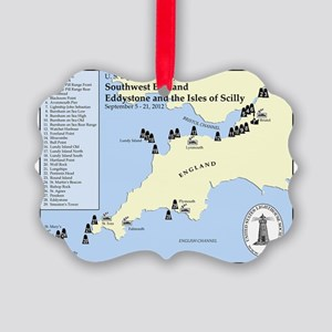 SW England Lighthouse Tour Picture Ornament