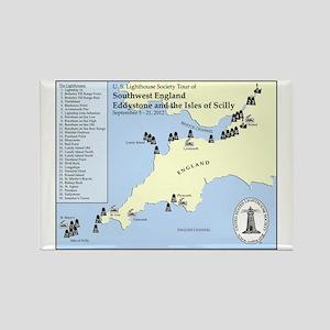 SW England Lighthouse Tour Rectangle Magnet