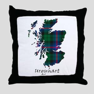 Map - Urquhart Throw Pillow