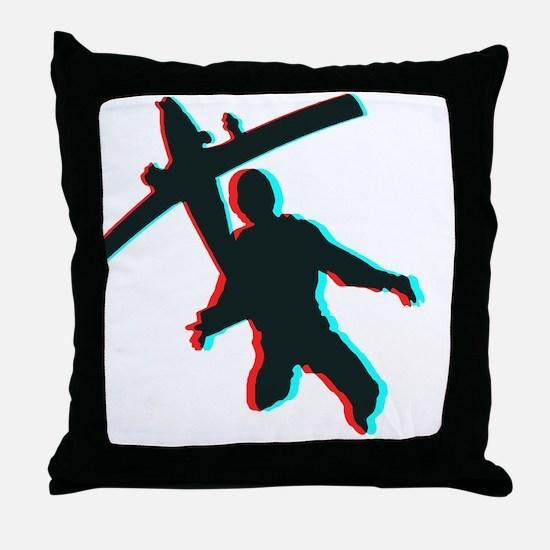 3D Freefall 1 Throw Pillow
