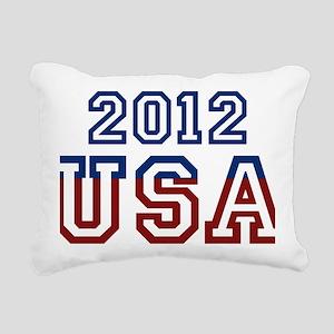 2012 USA Rectangular Canvas Pillow
