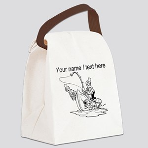 Custom Father And Son Fishing Canvas Lunch Bag