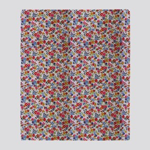 Bright Floral Throw Blanket