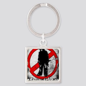 STOP THE VIOLENCE--- Graphitti Square Keychain