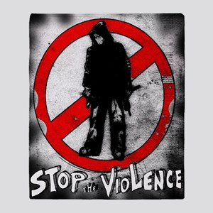 STOP THE VIOLENCE--- Graphitti Throw Blanket