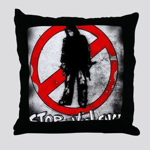 STOP THE VIOLENCE--- Graphitti Throw Pillow
