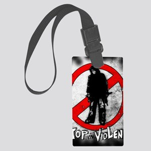STOP THE VIOLENCE--- Graphitti Large Luggage Tag
