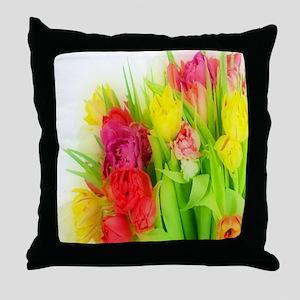 Fancy Tulip Shower Curtain Throw Pillow