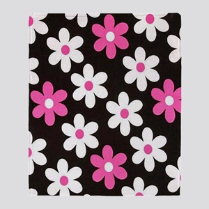 Daisy Fuchsia Throw Blanket