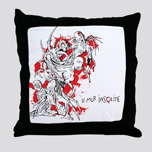 Mur insolite 03 Throw Pillow