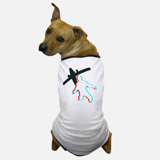 3D Freefall 1 (Dark) Dog T-Shirt