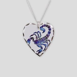 Celestial Rainbow Scorpion Necklace Heart Charm