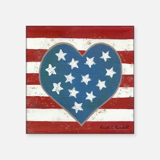 """American Love Square Sticker 3"""" x 3"""""""