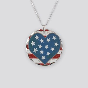 American Love Necklace Circle Charm