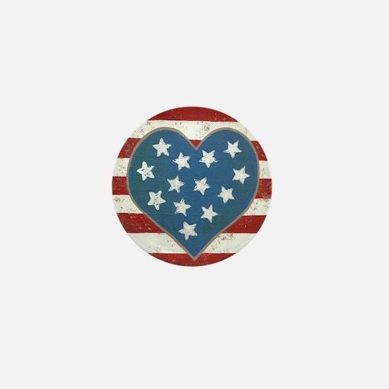 American Love Mini Button