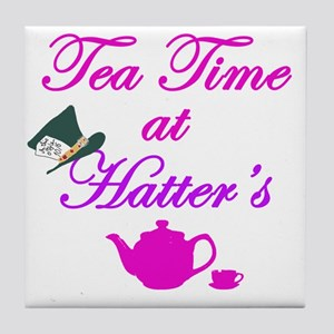 Tea Time at Hatters Tile Coaster