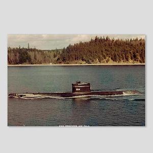 uss trigger large framed  Postcards (Package of 8)