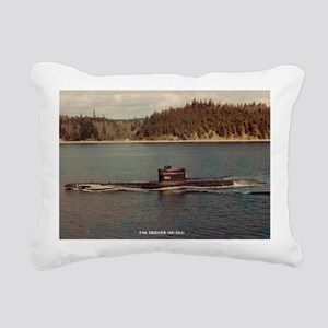 uss trigger large framed Rectangular Canvas Pillow