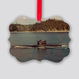 uss trigger large framed print Picture Ornament