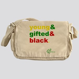 Young, Gifted and Black Messenger Bag