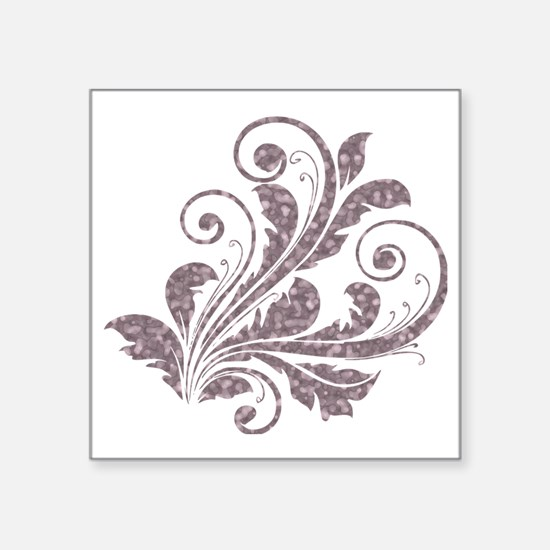 "Artistic Floral Square Sticker 3"" x 3"""