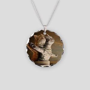Titanic Cats Necklace Circle Charm