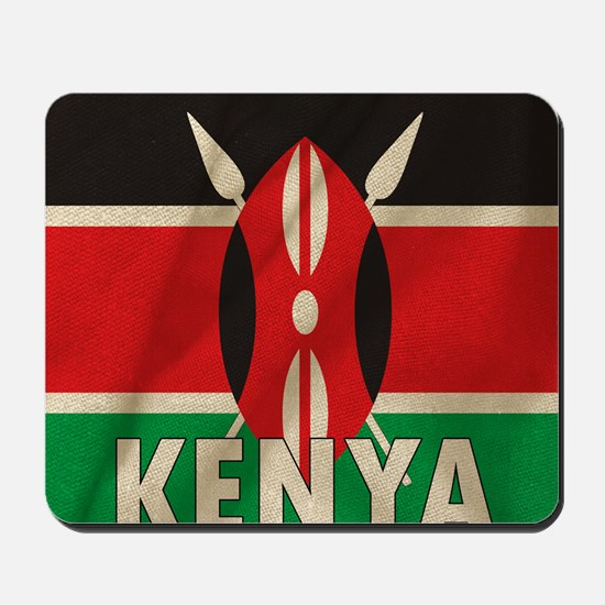 Kenya Fabric Flag Mousepad